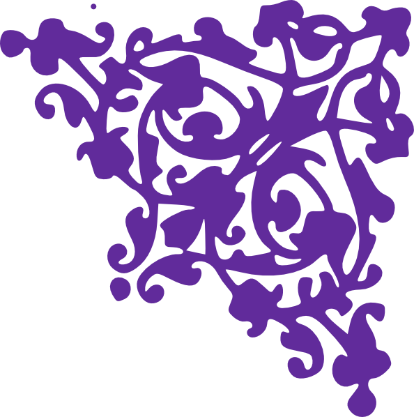 Purple clipart corner. Clip art at clker