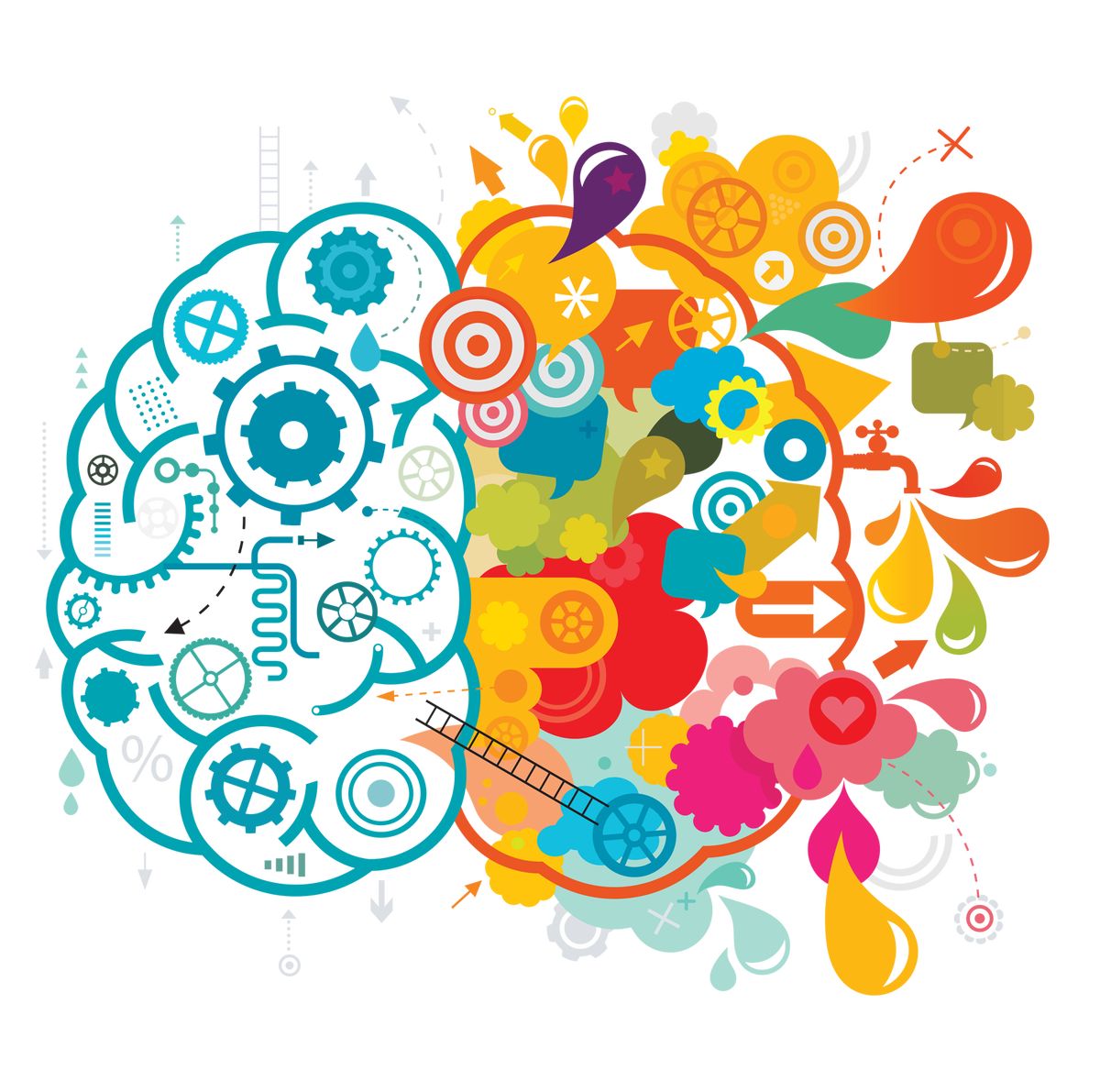 collection of mind. Design clipart creative