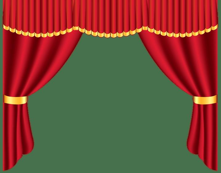 Diy stage curtain frame. Curtains clipart circus
