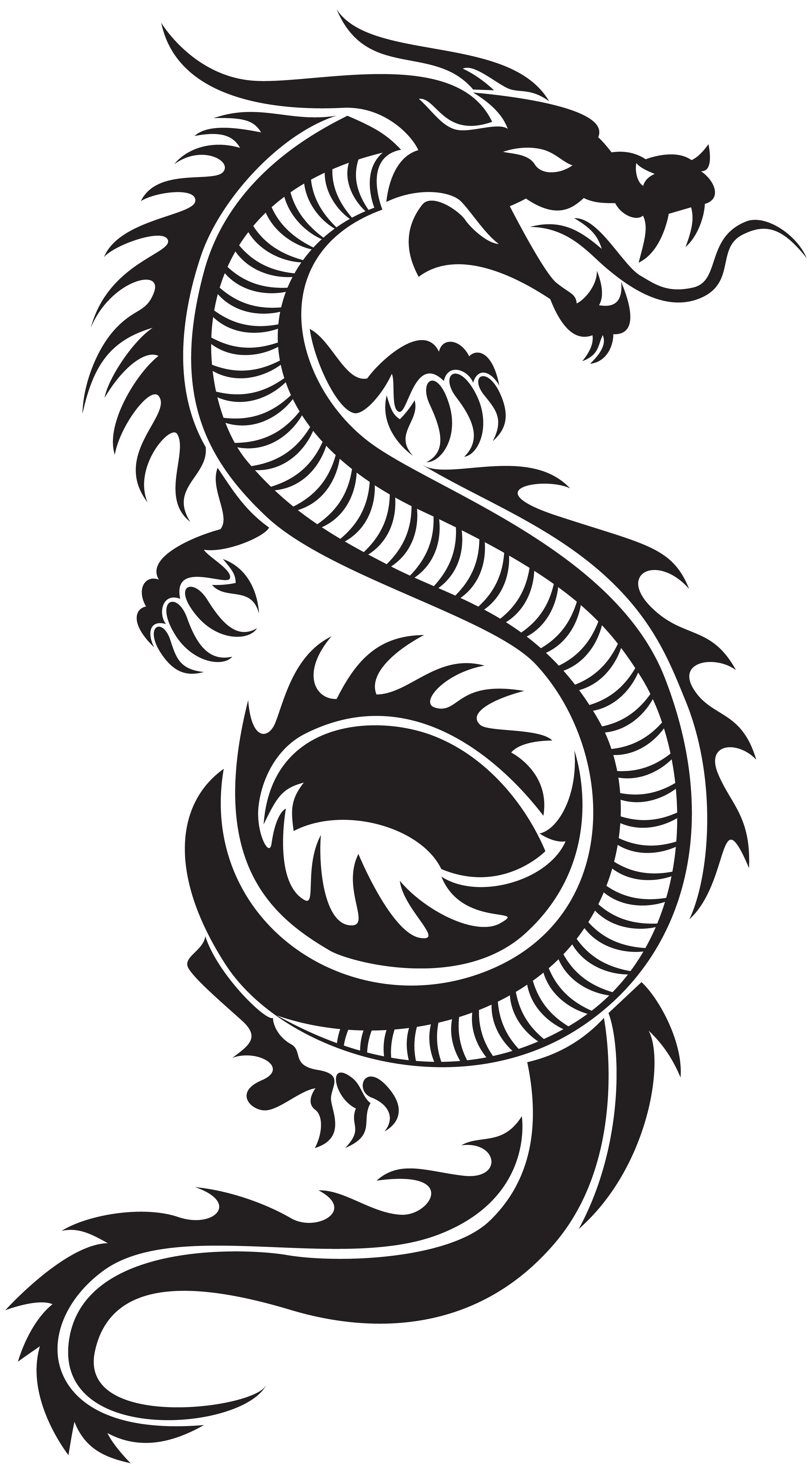 Clipart girl dragon. Chinese silhouette png clip