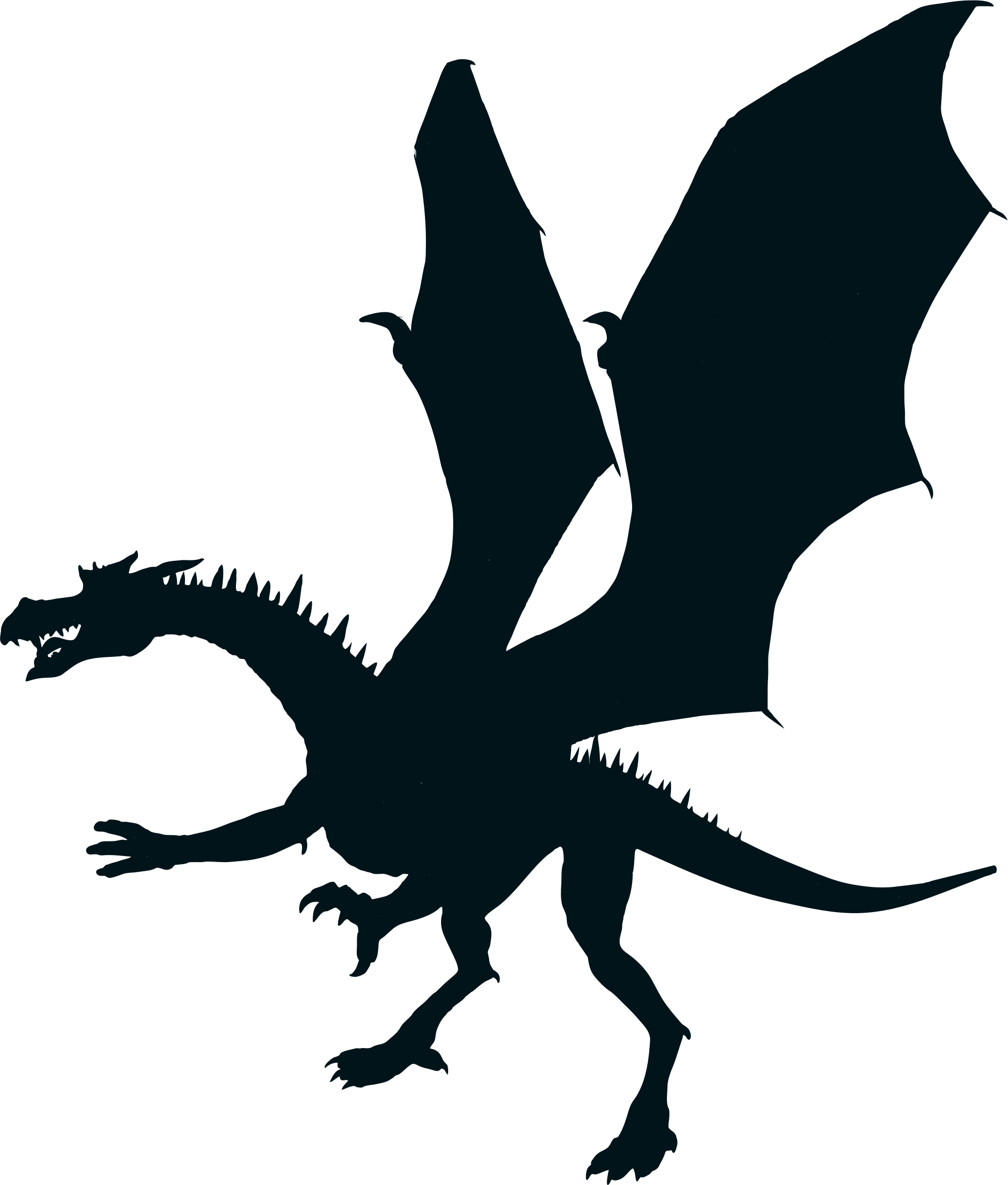 Dory clipart silhouette. Dragon images at getdrawings