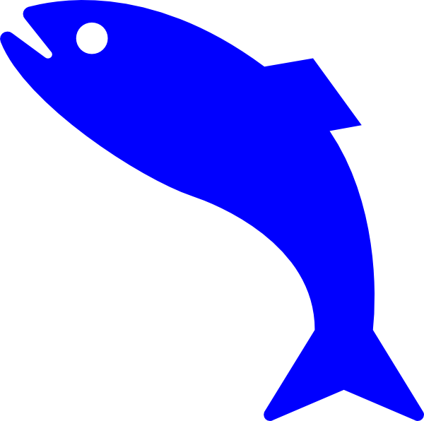 Red blue at getdrawings. Clipart fish simple