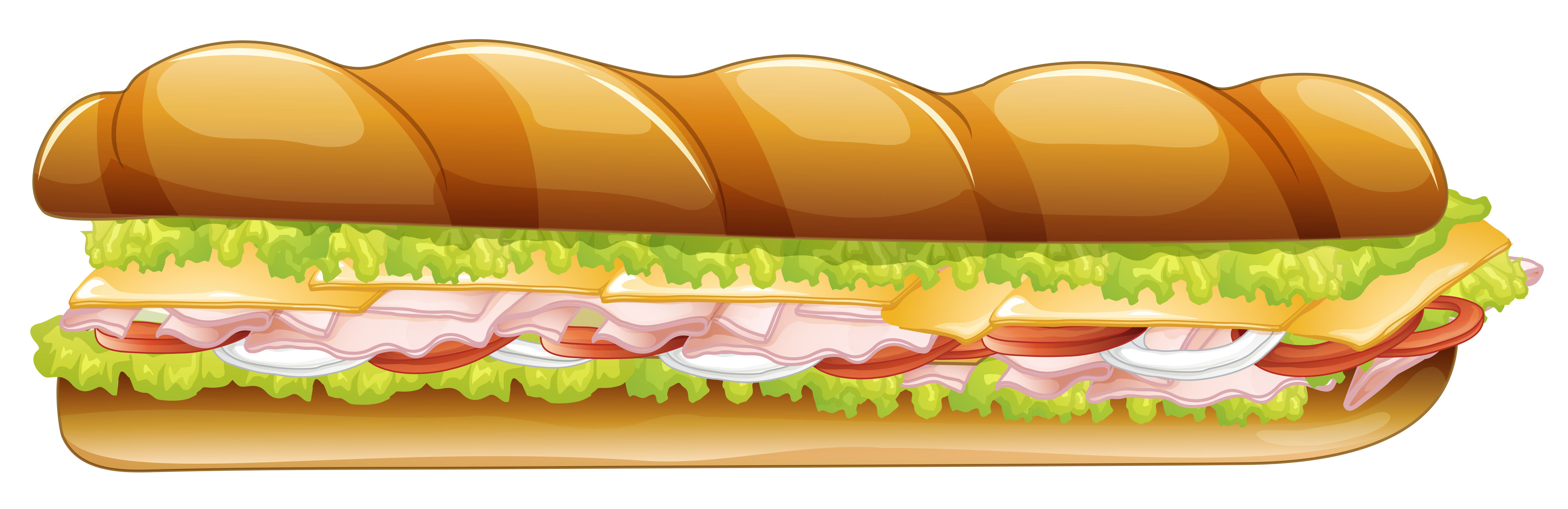 Make clipart sandwich. Long png vector image