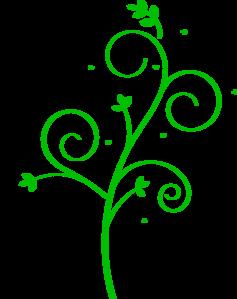 Floral design clip art. Clipart designs green