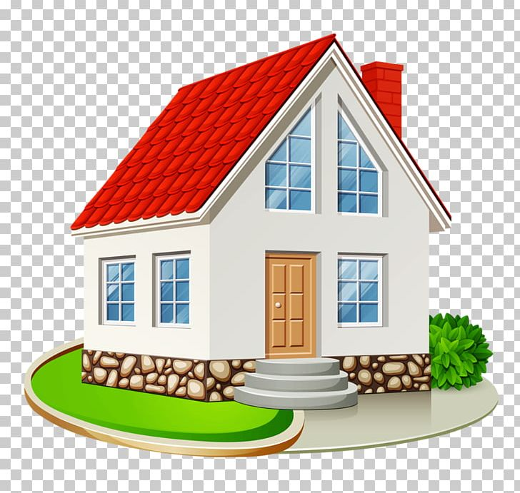 Single detached home interior. Cottage clipart house family