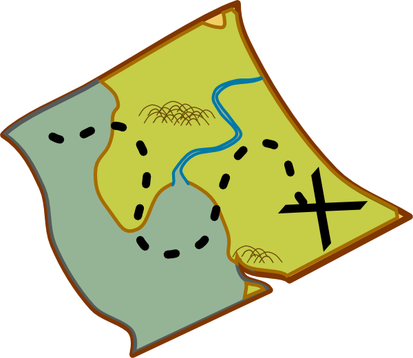 Map icons . Treasure clipart scavenger