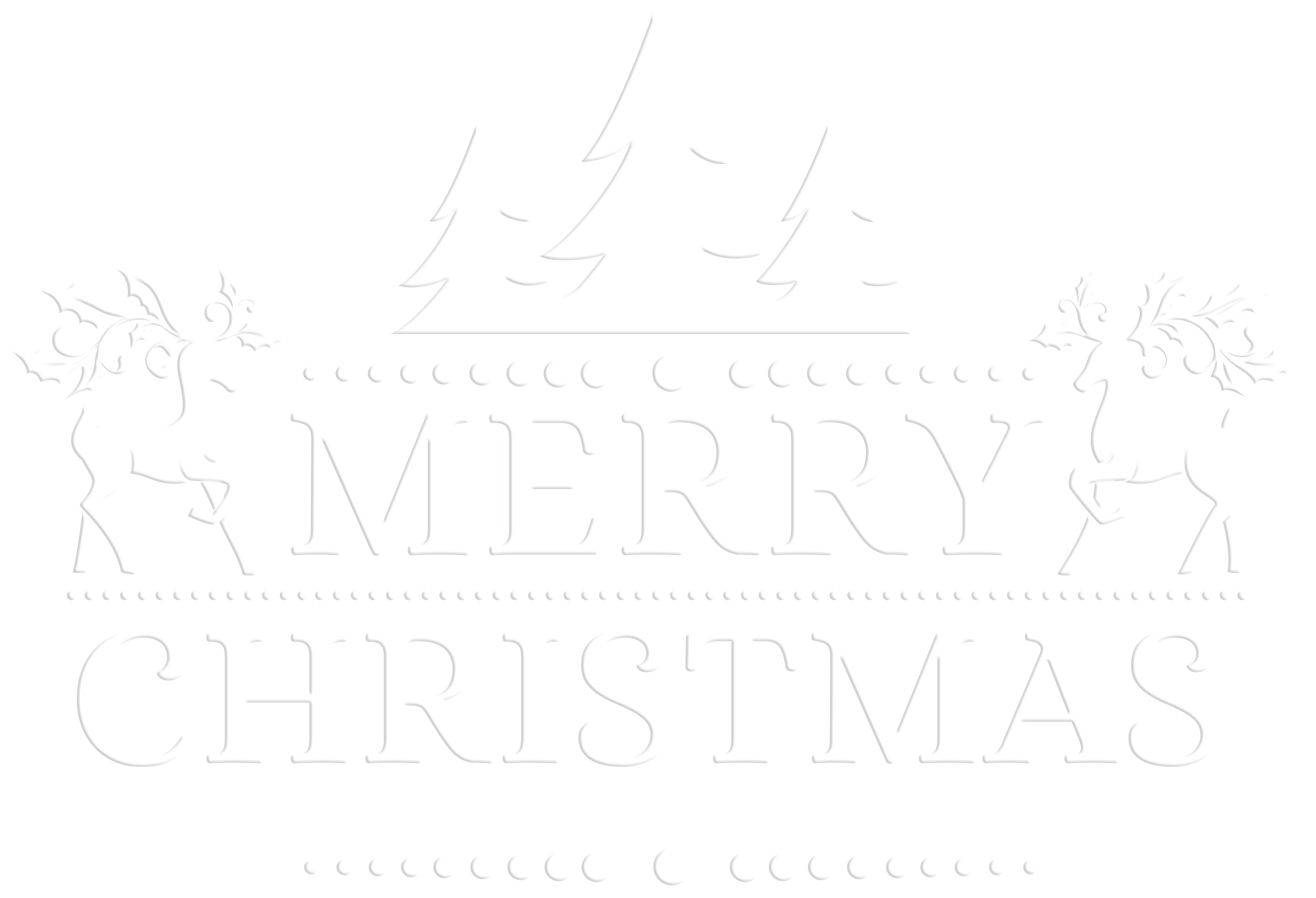 White transparent png clip. Deer clipart merry christmas