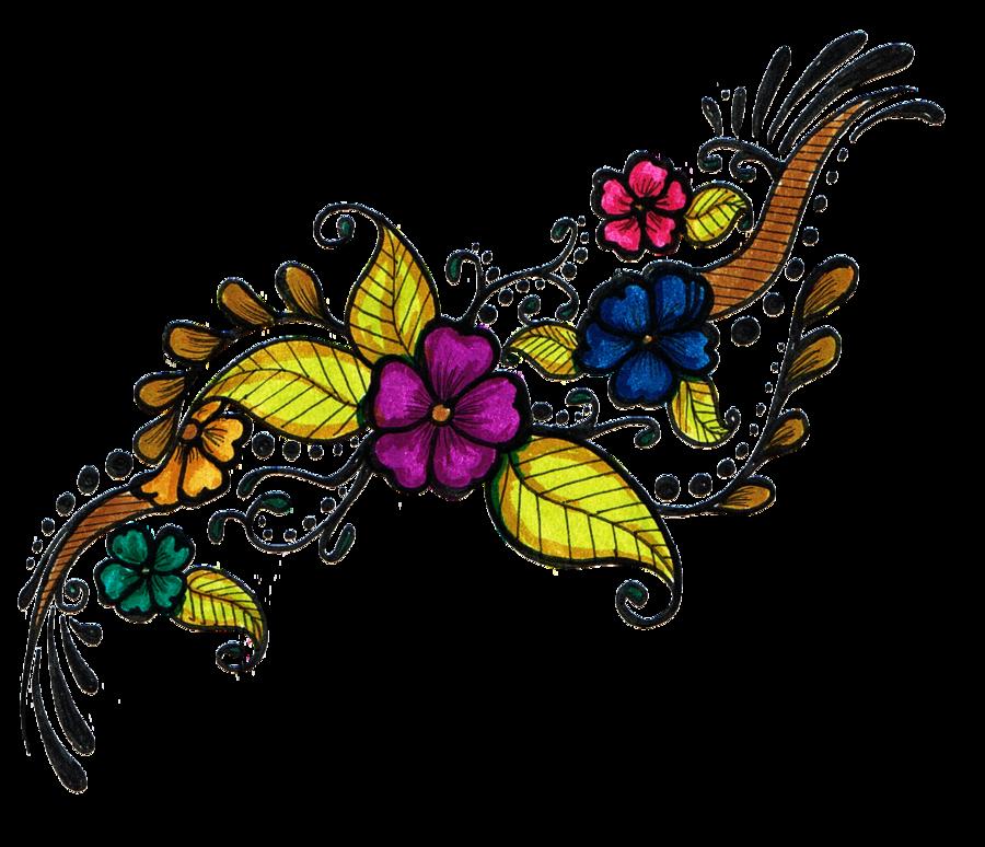 Girly clipart tribal. Flower tattoo design transparentpng