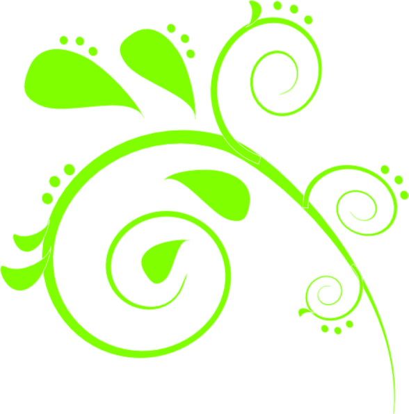Lime green clip art. Paisley clipart damask
