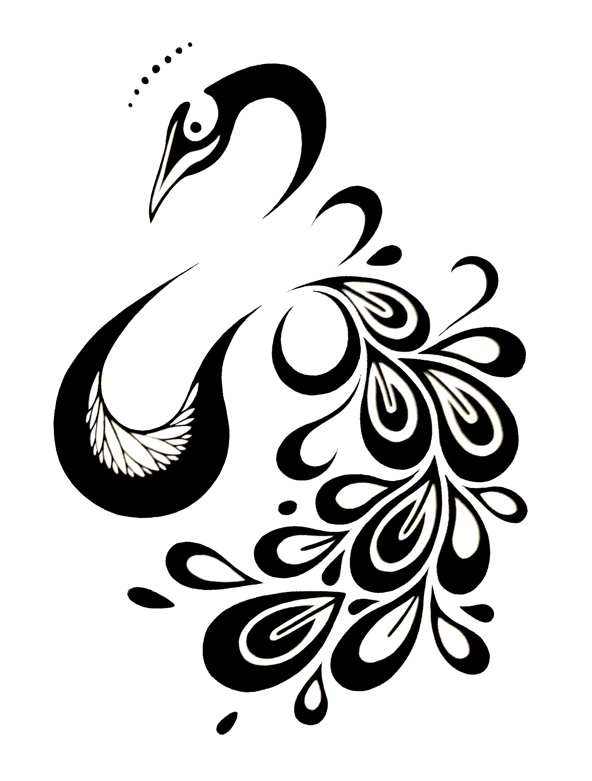 Clipart designs peacock. Free design black and