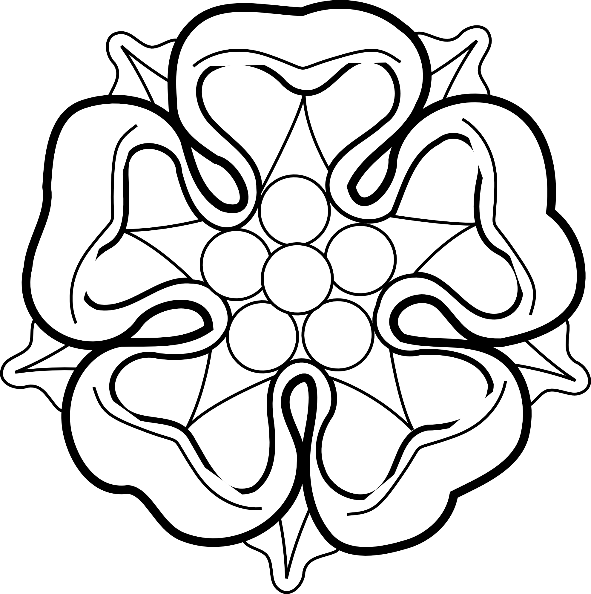 Knumathise rose images. Clipart roses black and white