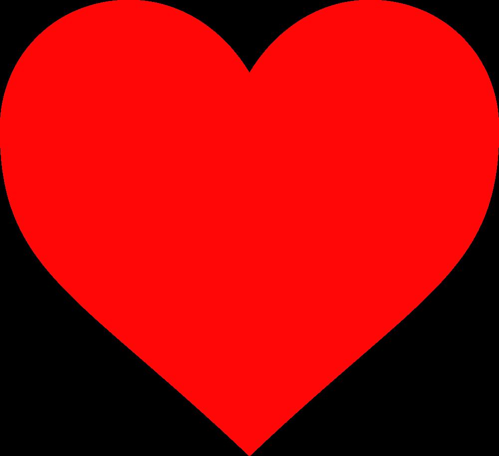 Clipart designs shape. Red heart plain pictures