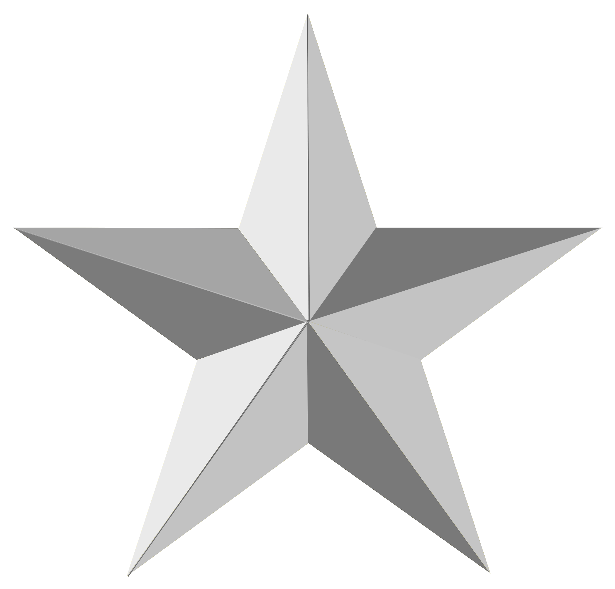 Clipart designs silver. Star isolated stock photo