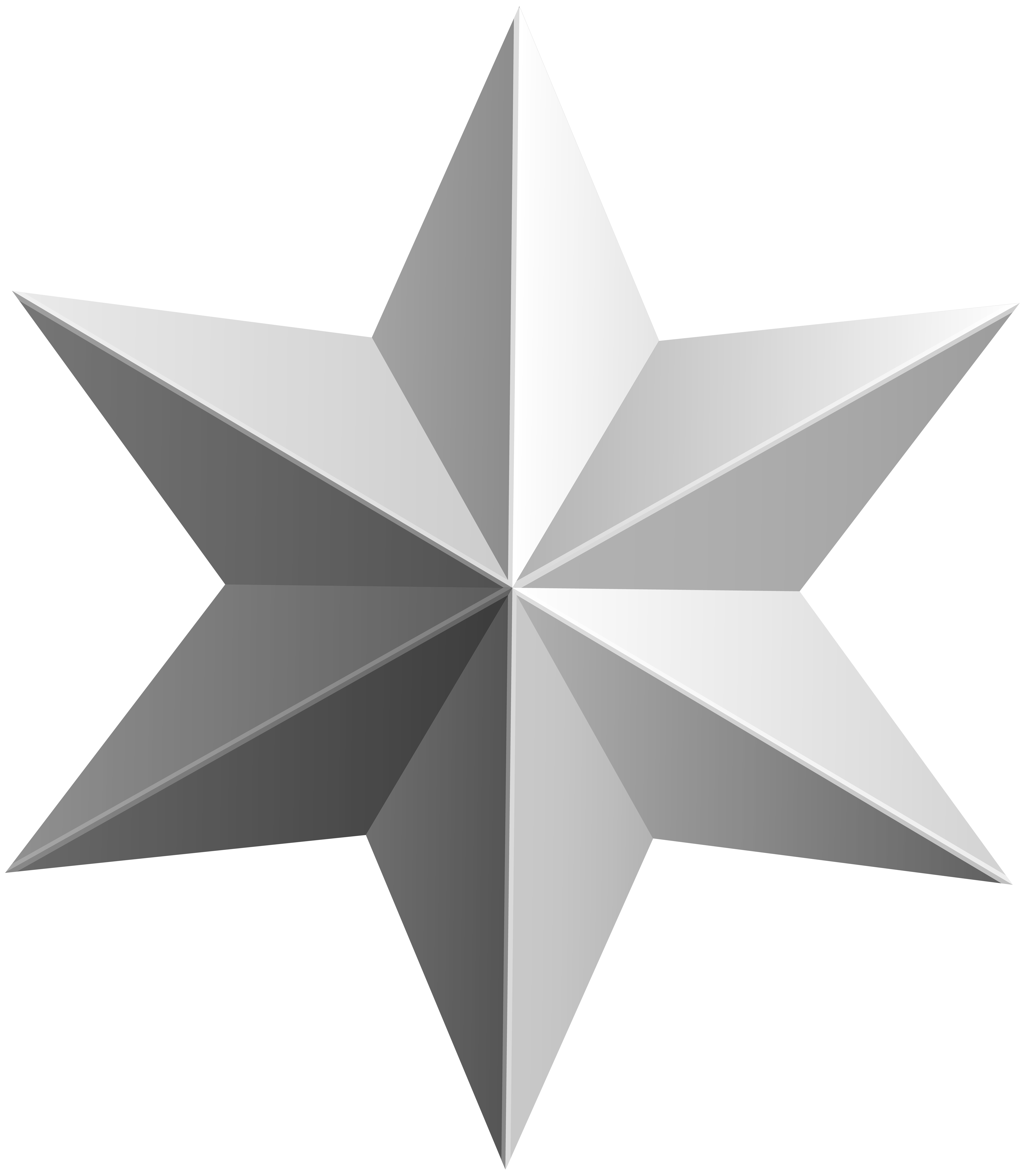 Silver star transparent png. Professional clipart collage