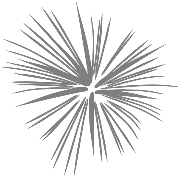 Large Silver Fireworks PNG