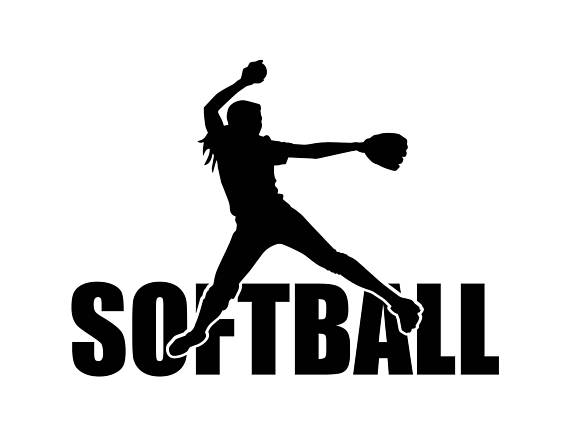 Softball clipart silhouette. Svg files baseball
