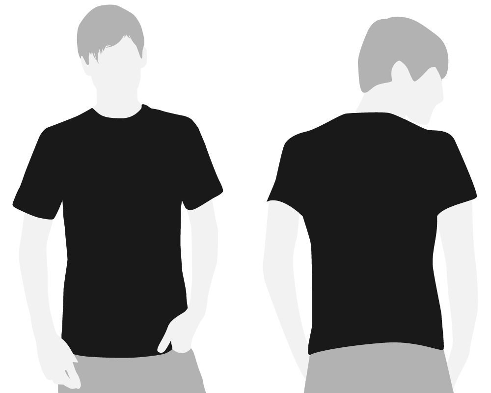 Clipart designs t shirt. Front and back google