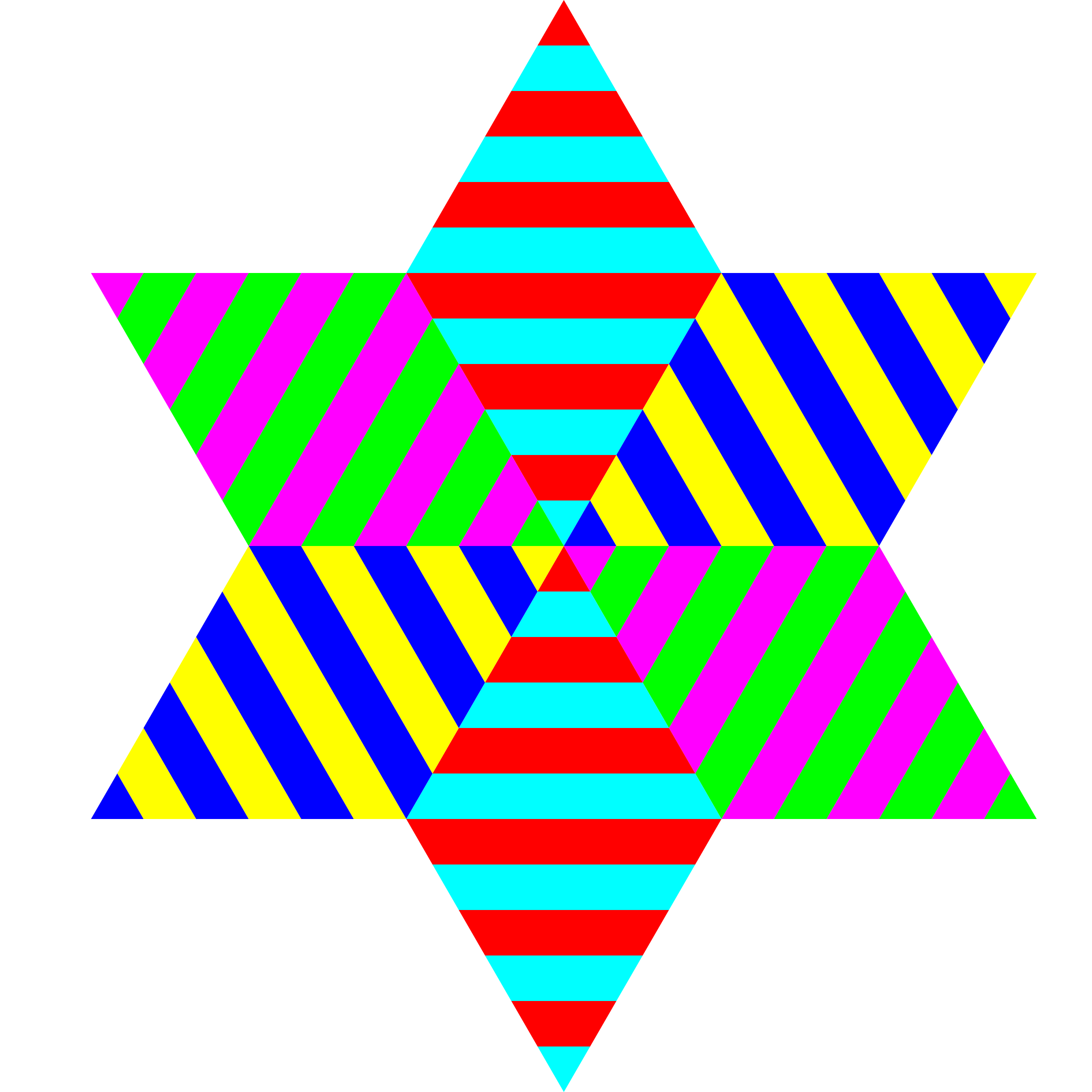 Diamond clipart coloured. Hexagram triangle stripes big