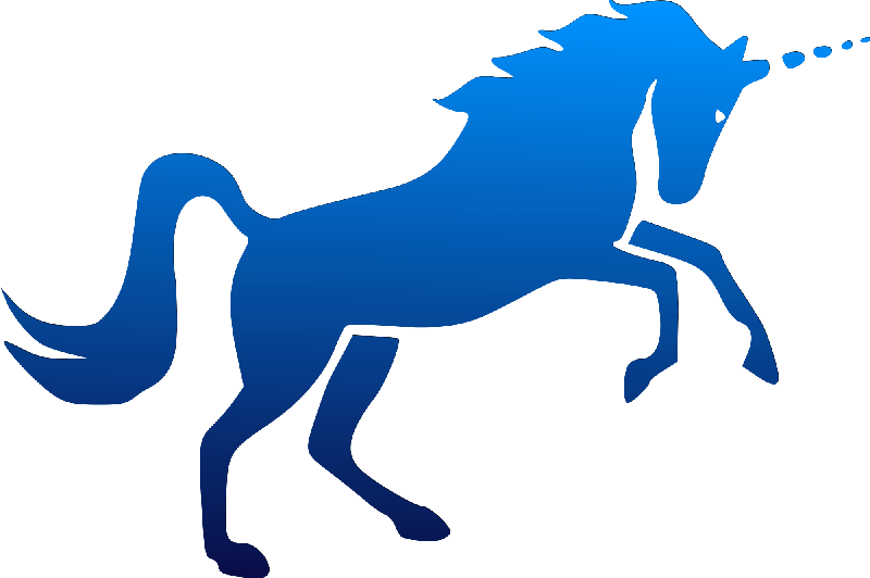 Clipart unicorn blue. Realistic at getdrawings com