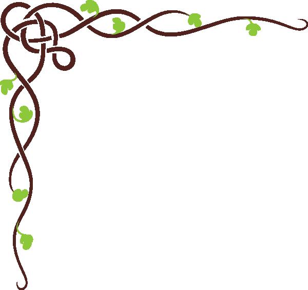 Green vines clip art. Tree clipart vine