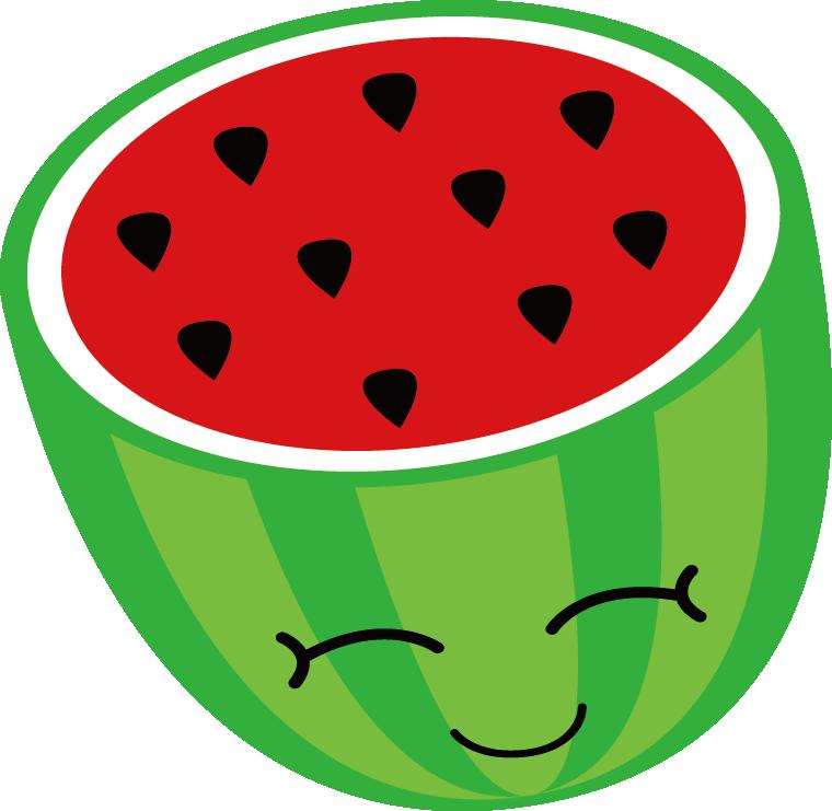 Cartoon clip art smile. Watermelon clipart sweet fruit