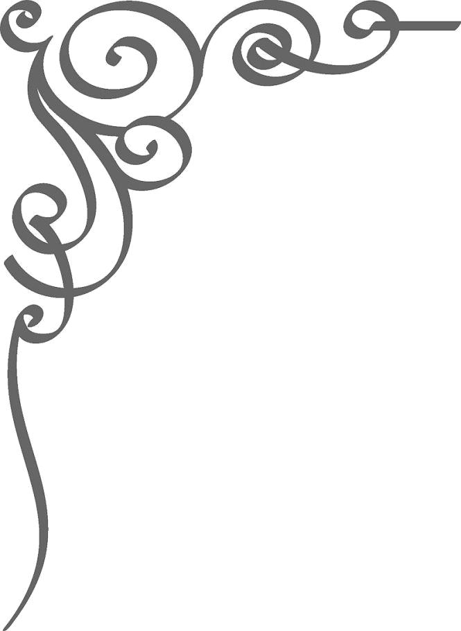 Wedding invitation clip art. Filigree border png