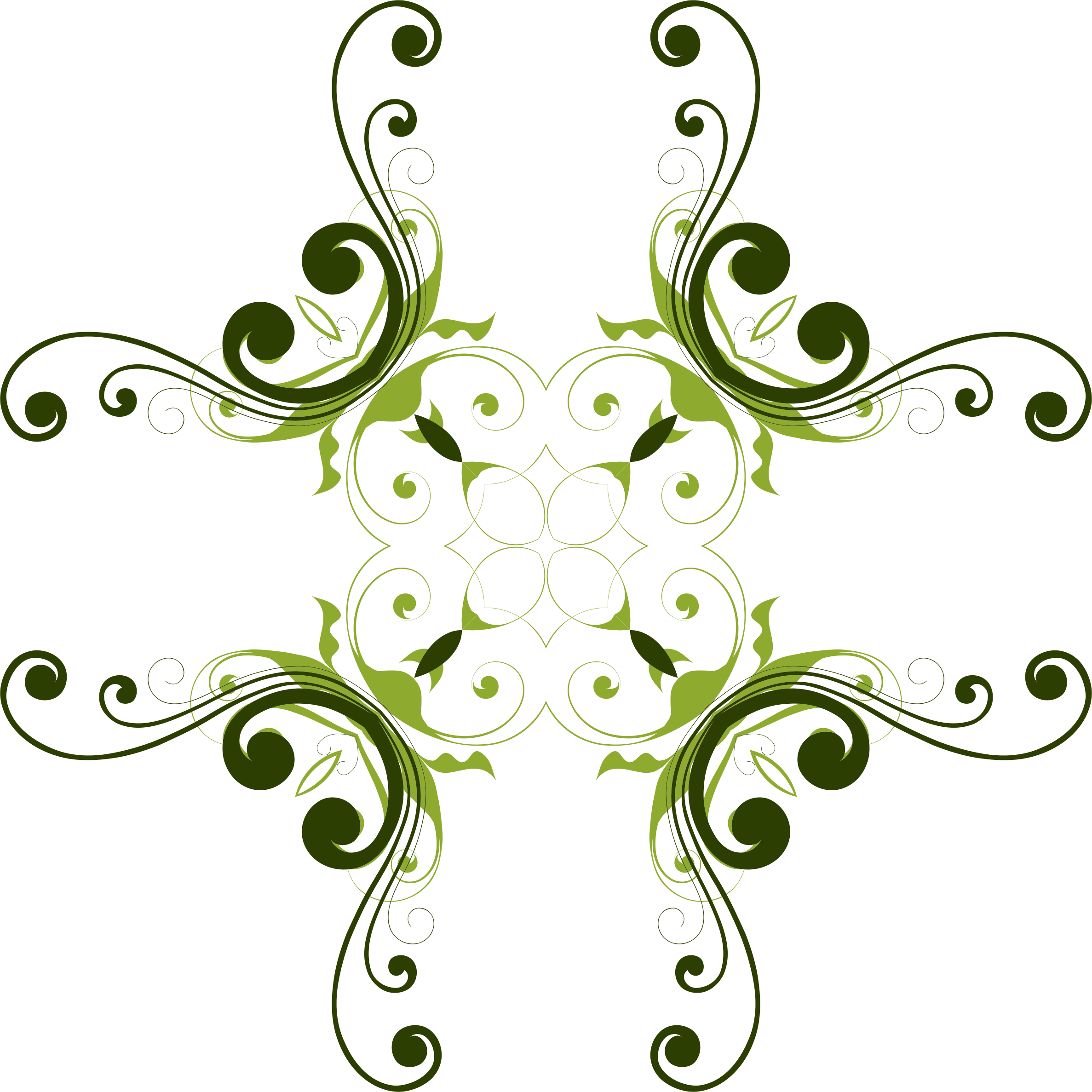 Ornamental floral design pencil. Flourishes clipart scrollwork