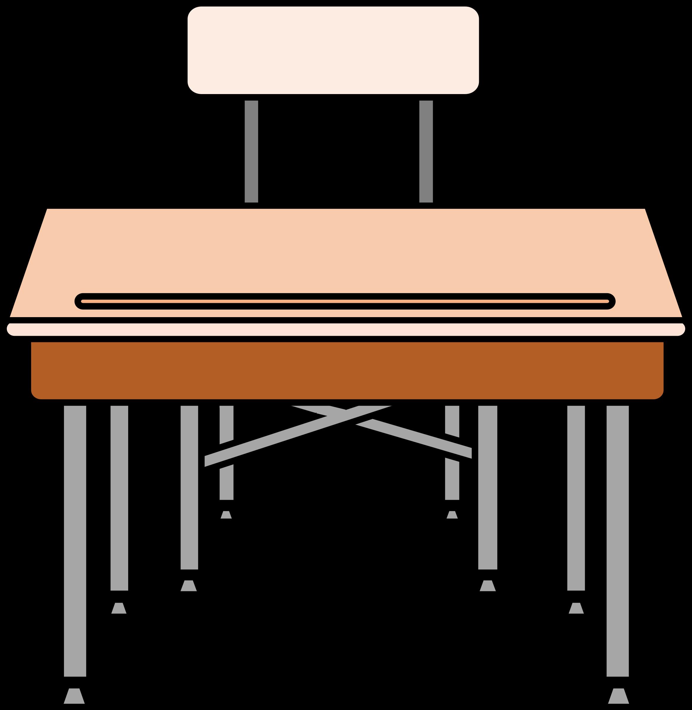 Empty student s big. Clipart desk