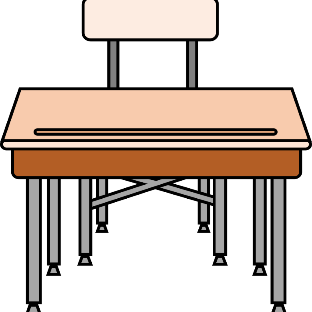 Clip art free vector. Desk clipart school bench