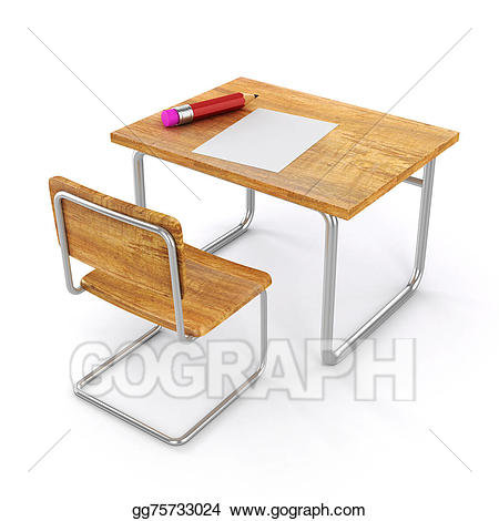 Clipart desk 3d school. Clip art d and