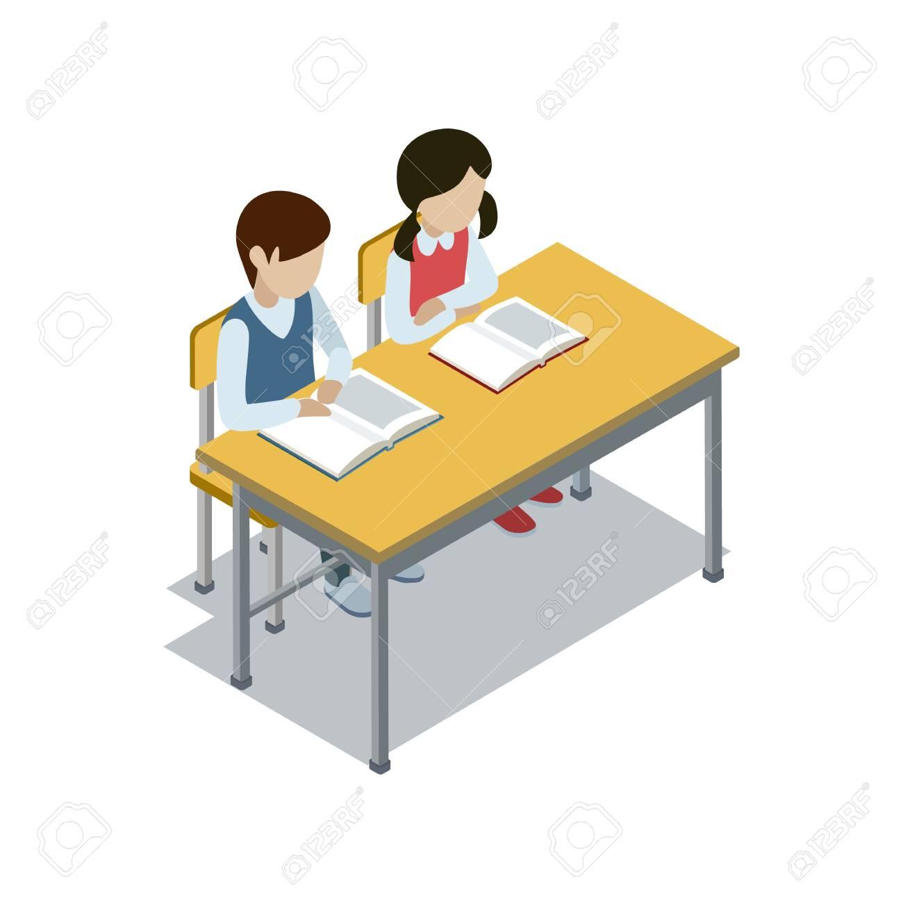 Free d download clip. Clipart desk 3d school