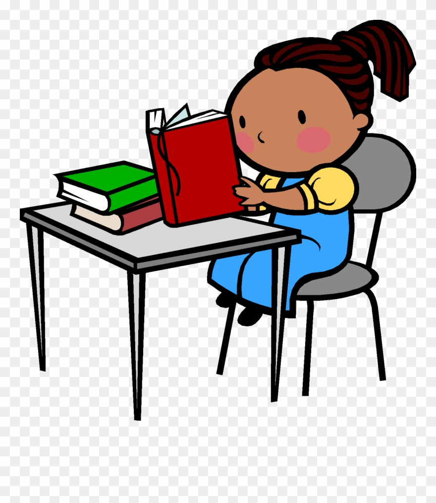 Poetry clipart desk. Reading and writing student