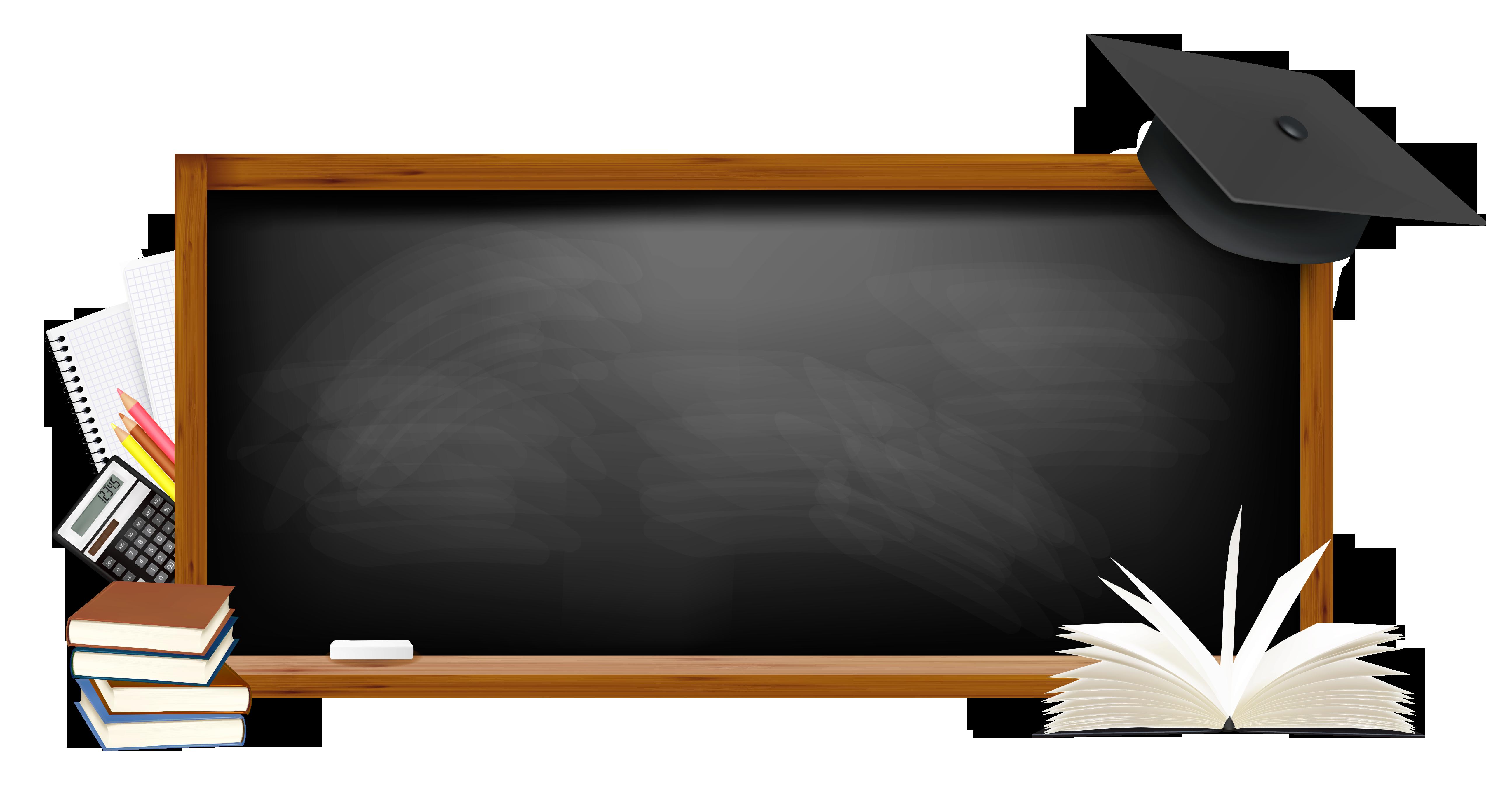 Black school board png. Eraser clipart chalkboard