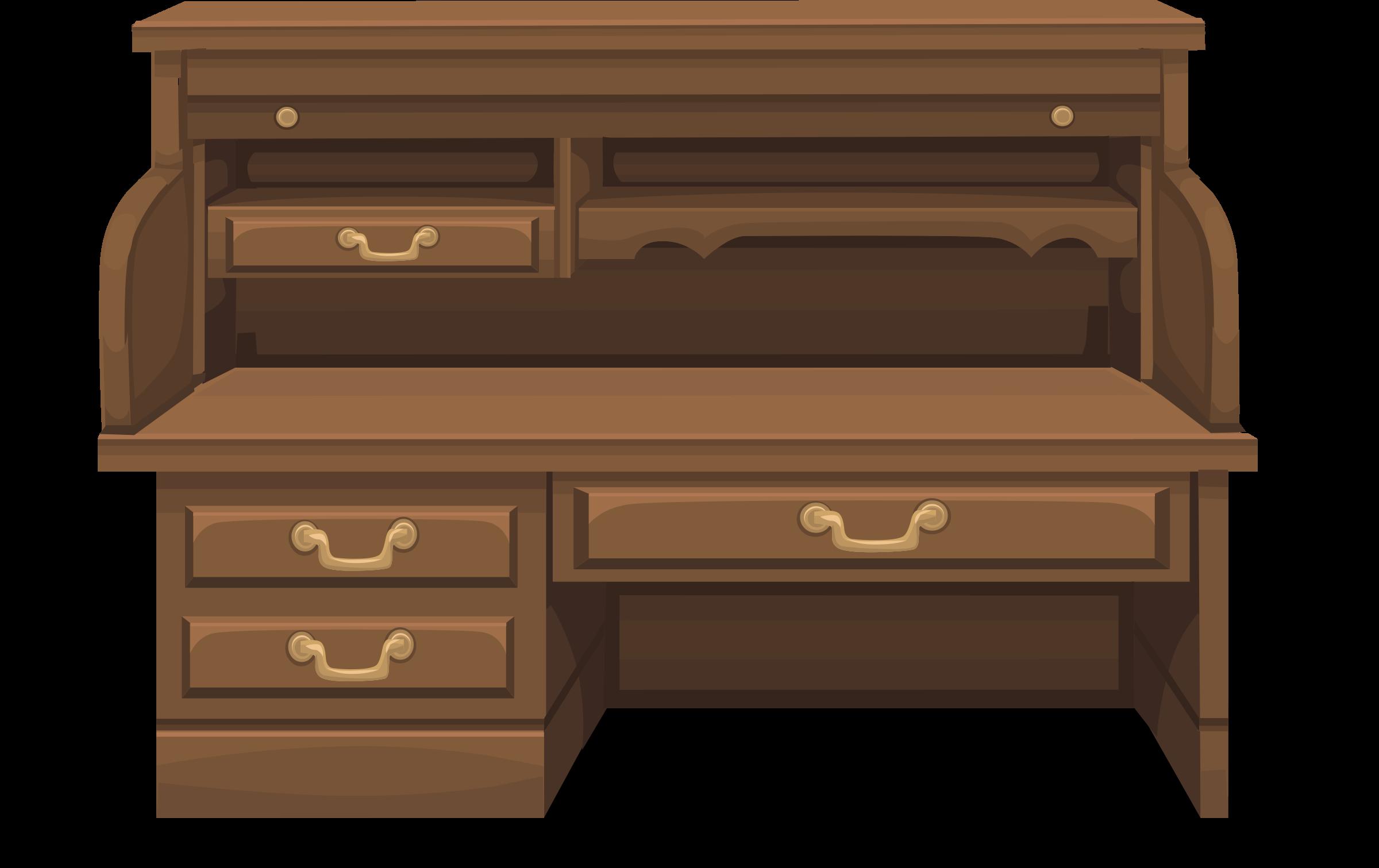 Desk brown desk