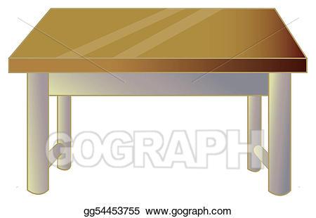 Stock illustration clip art. Desk clipart brown desk