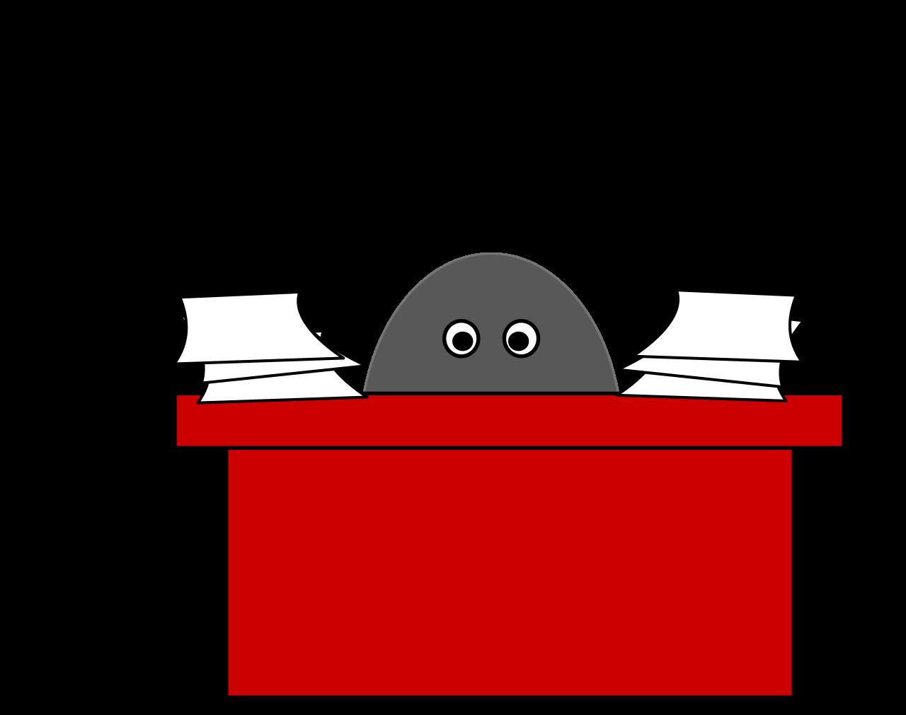 File less red svg. Desk clipart busy desk