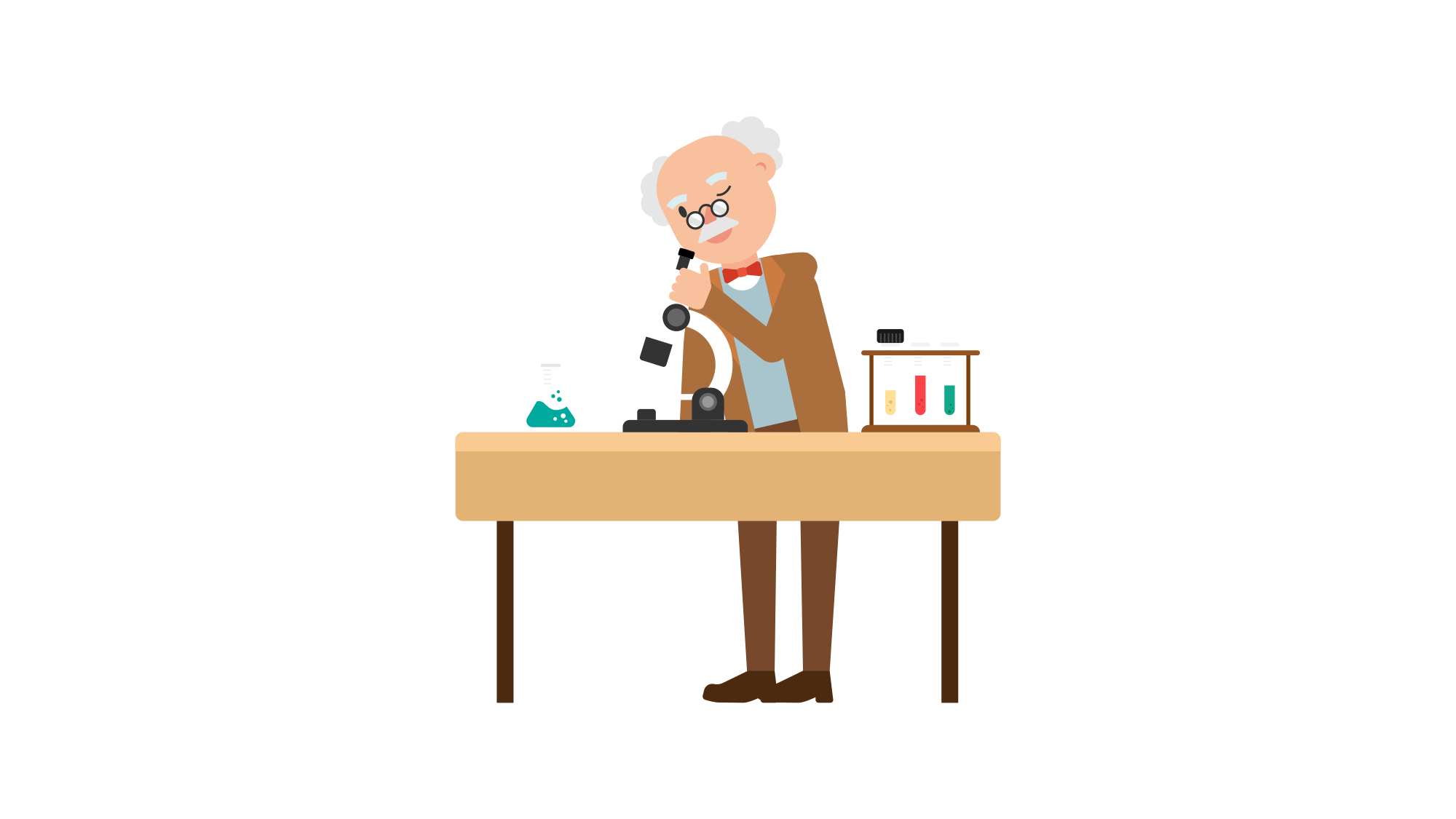 Log clipart history professor. File looking through microscope