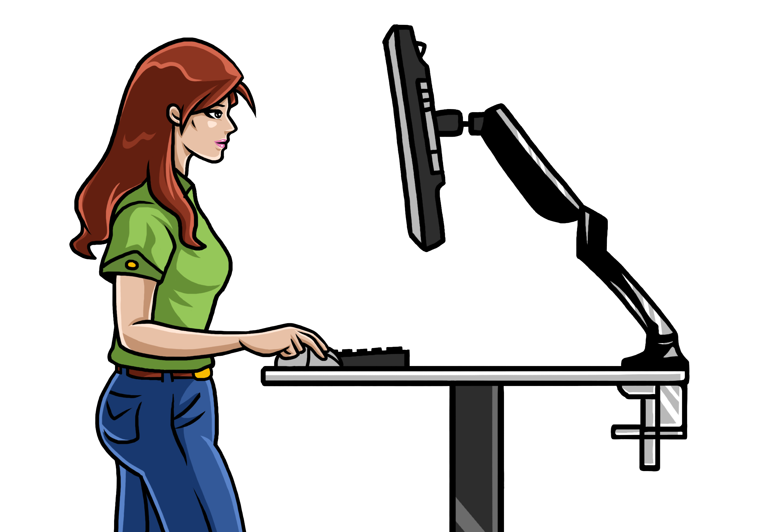 Important clipart desk. Set your standing to