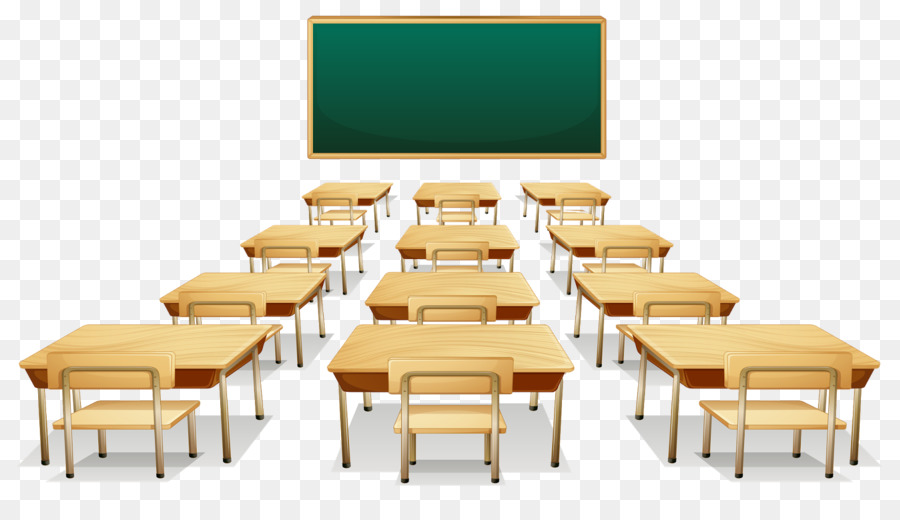 Desk clipart classroom full. School student
