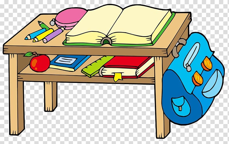 Book and crayons on. Textbook clipart classroom