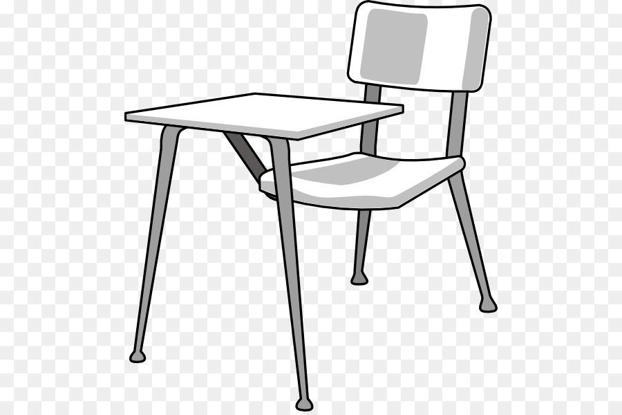School black and white. Clipart desk clip art