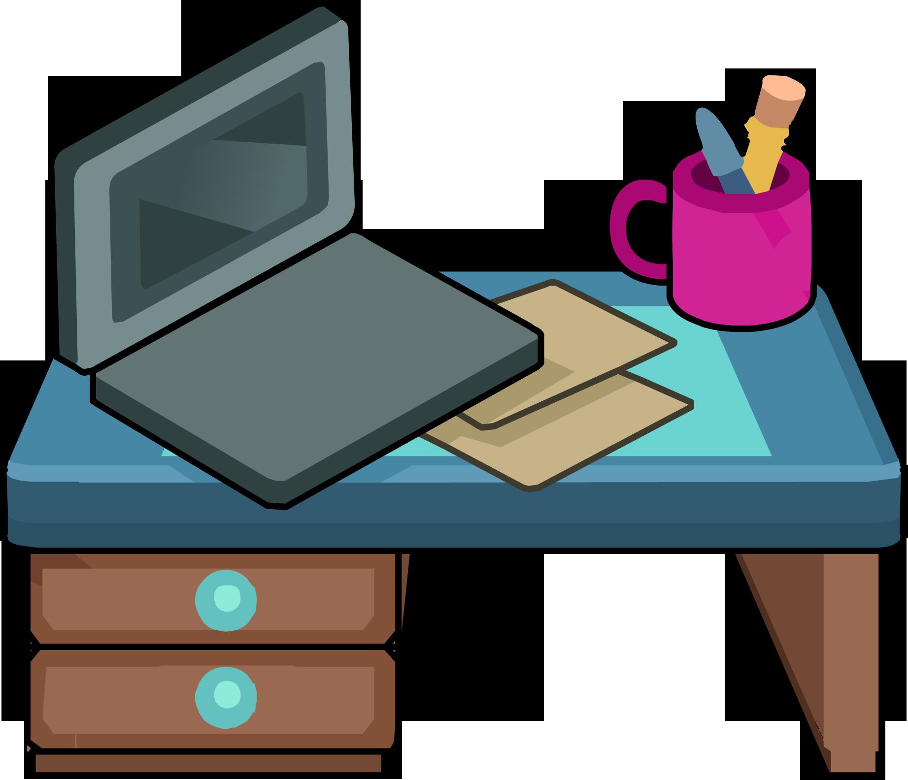 Desk computer station