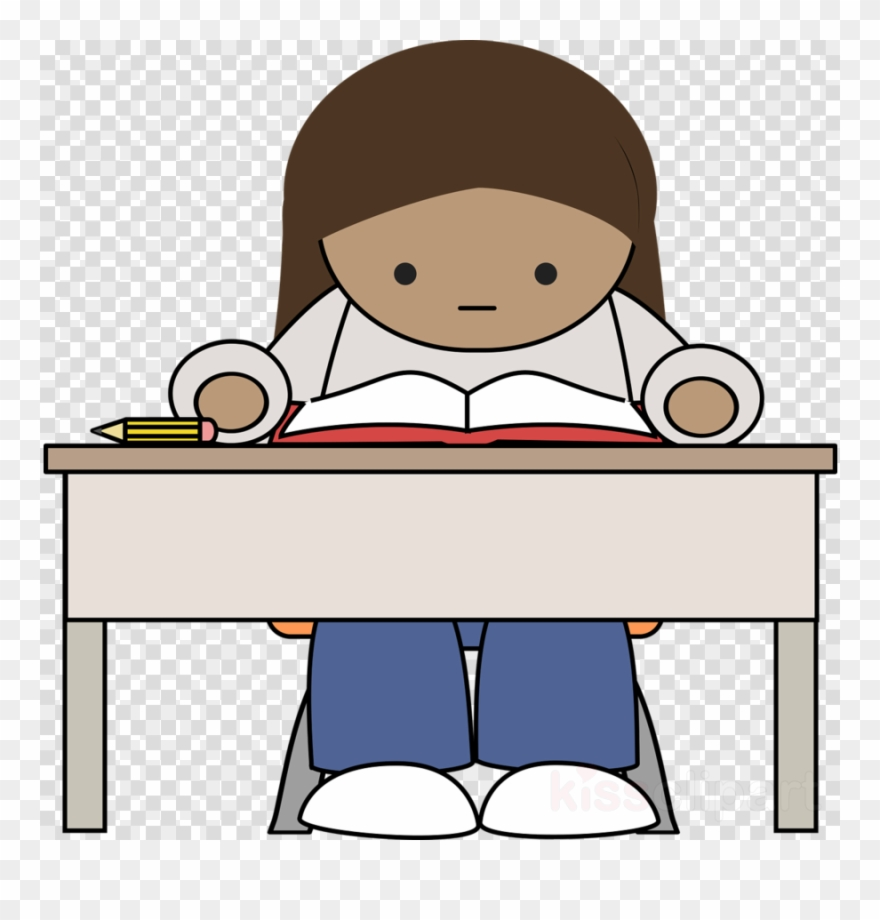 Download reading png study. Clipart desk college student