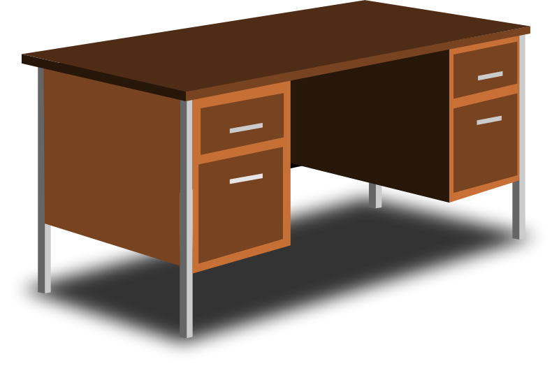 Desk clipart study table. Drawer graphics illustrations free