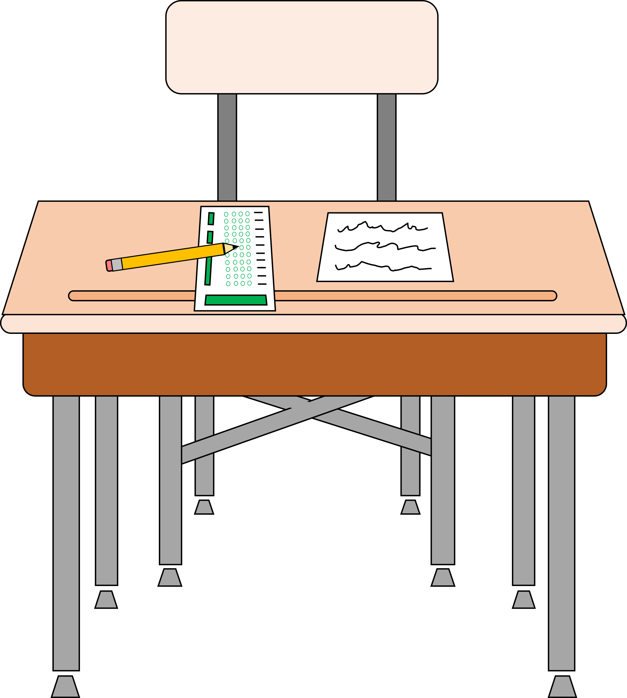 Desk clipart testing.  collection of free