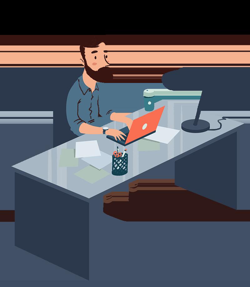 Desk clipart desk job. Shipping services trinet express
