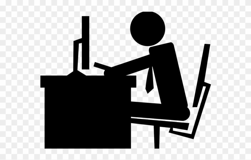Jobs office space clip. Clipart desk desk job