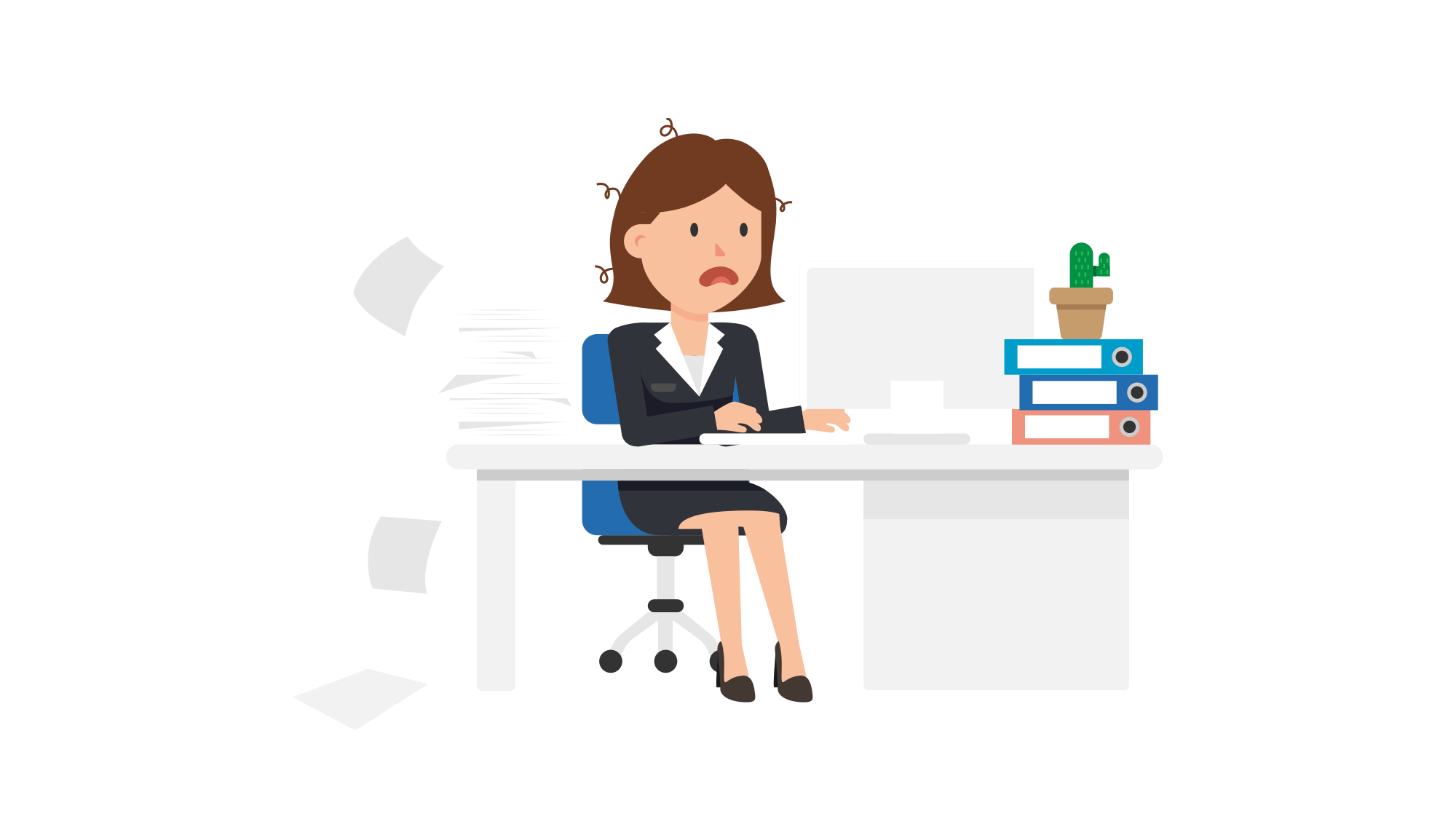 Stress clipart computer stress. File corporate woman being