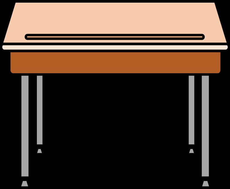 Coloring clipart table. Jokingart com school