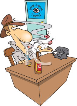 Detective clipart desk. Royalty free image of